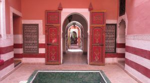 Just behind the Jemaa El Fna. Superb riad, two patios, douiria fantastic and beautiful terrace