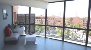 A proximité du jardin Majorelle, appartement de bon standing avec une très belle terrasse