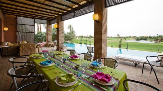 Dans le domaine d'Amelkis, belle villa en première ligne sur le golf