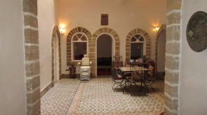 In the medina of Essaouira, beautiful riad with panoramic ocean views