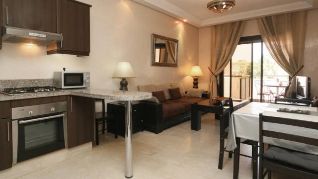 Appartement de 2 chambres, cuisine Américaine, en plein centre-ville