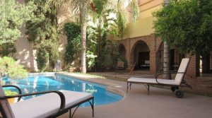 Exceptional, beautiful riad with three patios, pool, hammam, just perfect car access in one of the best district
