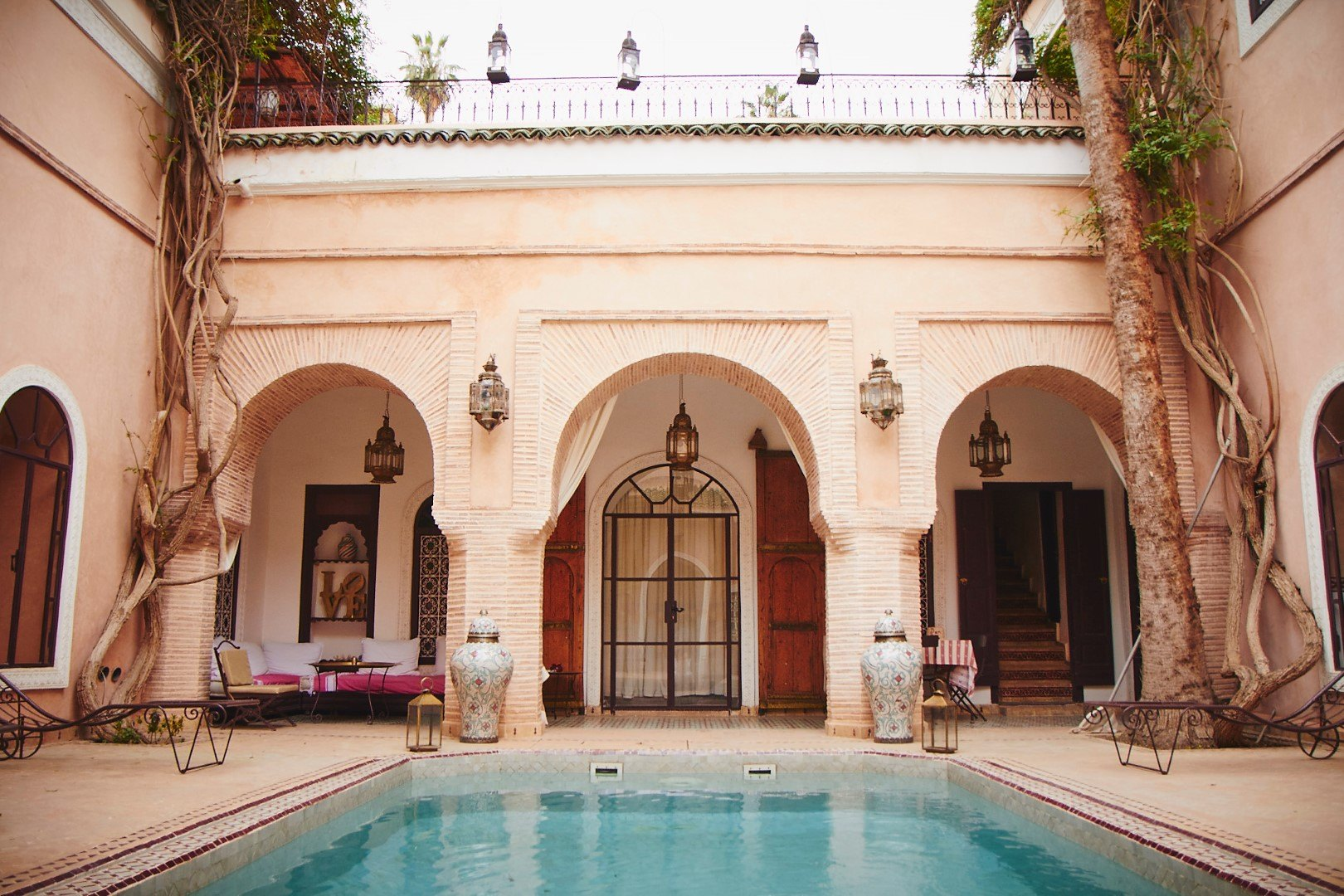 Somptueux riad avec piscine chauff e dans l un des for Riad marrakech piscine chauffee
