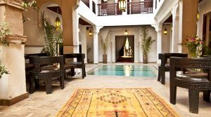 Splendid riad, three patios, swimming pool and hammam. Remarkably well located, close to places of interest to visit with perfect car access