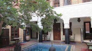 Capacité d'hébergement de 36 personnes, riad du 19 siècle voisin du musée Dar Si Saïd