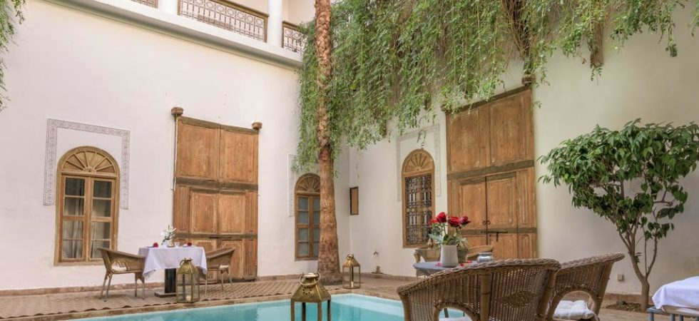 Just splendid, authentic riad with remarkable volumes, near the Jamaâ El Fna square with direct car access